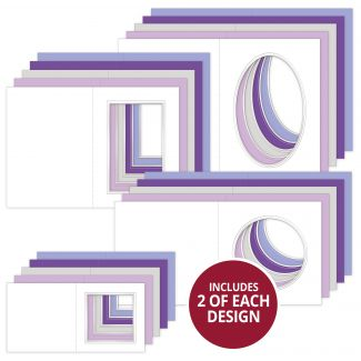 Lilac Dreams Foiled Aperture Card Blanks Megabuy