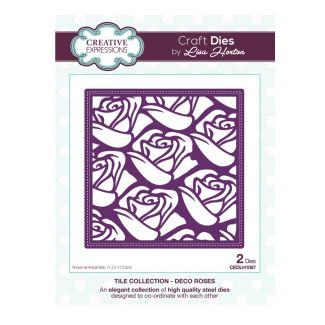 Tile Collection Deco Roses Craft Die