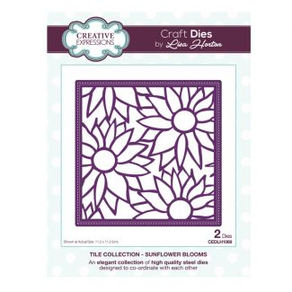Tile Collection Sunflower Blooms Craft Die