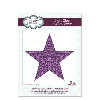 Stitched Collection Layered Stars