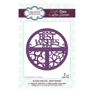 Sliced Circles Best Wishes Craft Die