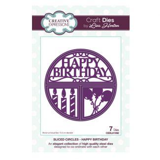 Sliced Circles Happy Birthday Craft Die