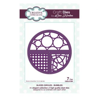 Sliced Circles Bubbles Craft Die