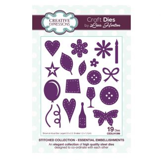 Stitched Collection Essential Embellishments Craft Die