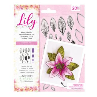 Lily Collection - Stamp and Die - Beautiful Lilies x 20 pieces
