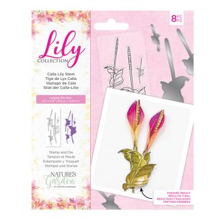 Lily Collection - Stamp and Die - Calla Lily Stem x 8 pieces