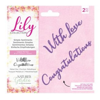 Lily Collection - Metal Die - Simple Sentiments