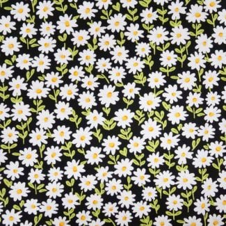 Sunny Bee Collection - Daisies Black (fat quarter)