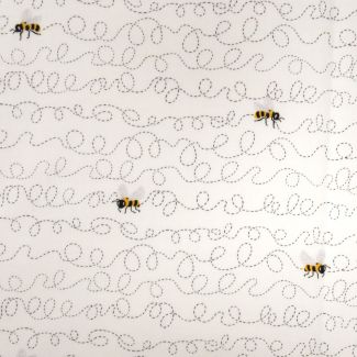 Sunny Bee Collection - Buzzin' Bee White (fat quarter)