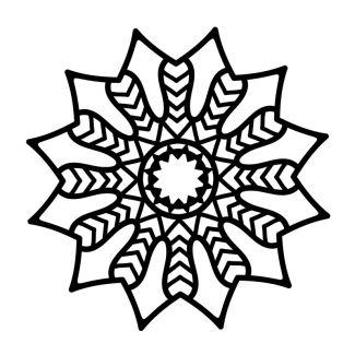 Creative Expressions Mask - Chevron Mandala