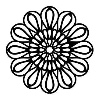 Creative Expressions Mask - Petal Mandala