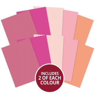 Matt-tastic Adorable Scorable A4 Cardstock x 10 sheets - Pinks
