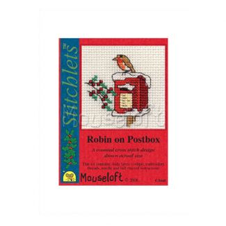 Stitchlets for Christmas - Robin on Postbox