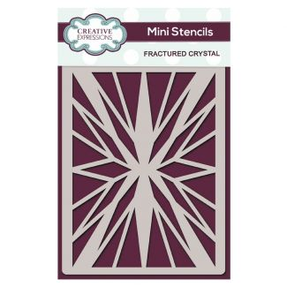 Creative Expressions Mini Stencil Fractured Crystal