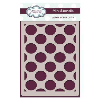 Creative Expressions Mini Stencil Large Polka Dots