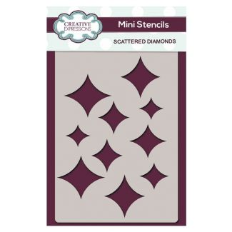 Creative Expressions Mini Stencil Scattered Diamonds