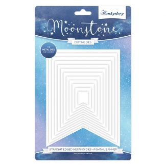Moonstone Straight Edged Nesting Dies - Fishtail Banners