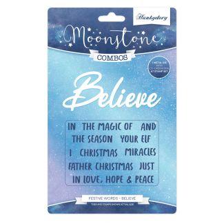 Moonstone Combos - Festive Words - Believe