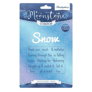 Moonstone Combos - Festive Words - Snow