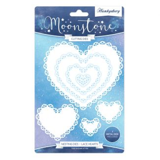 Moonstone Nesting Dies - Lace Hearts