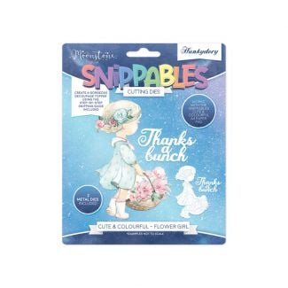 Moonstone Dies - Snippables Cute & Colourful - Flower Girl