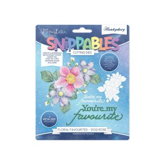 Moonstone Dies - Floral Favourites Snippables - Dog Rose