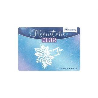 Moonstone Minis - Christmas Embellishments - Candle & Holly