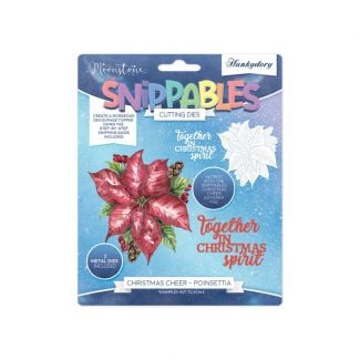 Moonstone Dies - Snippables Christmas Cheer - Poinsettia