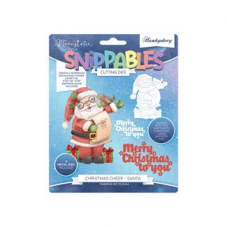 Moonstone Dies - Snippables Christmas Cheer - Santa