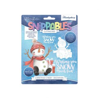 Moonstone Dies - Snippables Christmas Cheer - Snowman