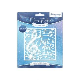 Moonstone Dies - Music Notes Card
