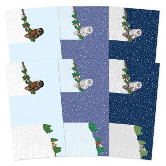 Festive Moments - Set the Scene Z-Fold Card Blanks - Winter Woodland