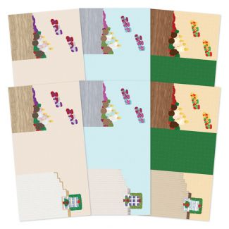 Festive Moments - Set the Scene Z-Fold Card Blanks - Warm Winter Wishes