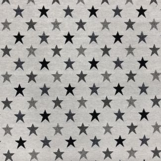 Chatham Glyn New World Fabric - Monochrome Lucero Stars