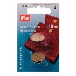 Magnetic Snap Gold - 19mm