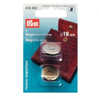 Magnetic Snap Antique Brass - 19mm
