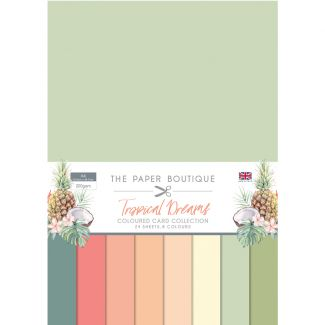 The Paper Boutique Tropical Dreams Coloured Card Collection