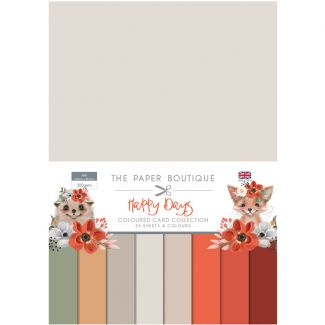 The Paper Boutique Happy Days A4 Coloured Card Collection
