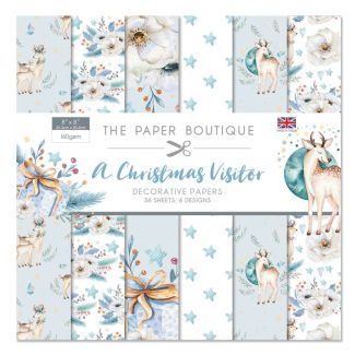 """The Paper Boutique A Christmas Visitor 8"""" x 8"""" Decorative Papers"""