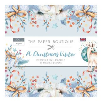 "The Paper Boutique A Christmas Visitor 7"" x 7"" Decorative Panels"