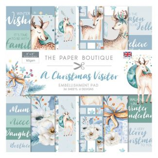 "The Paper Boutique A Christmas Visitor 8"" x 8"" Embellishment Pad"
