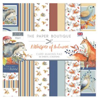 The Paper Boutique A Whisper of Autumn 12 x 12 Card Making Pad