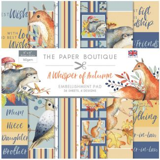 The Paper Boutique A Whisper of Autumn 8 x 8 Embellishments Pad