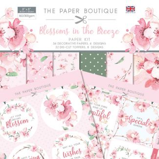 "The Paper Boutique Blossoms in the Breeze 8"" x 8"" Paper Kit"