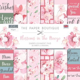 "The Paper Boutique Blossoms in the Breeze 8"" x 8"" Embellishments"