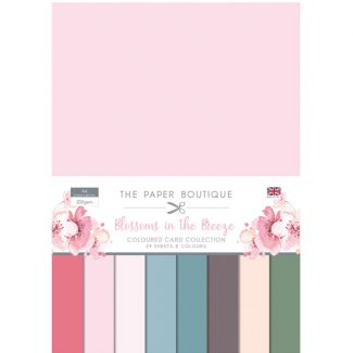 The Paper Boutique Blossoms in the Breeze A4 Colour Card Collection