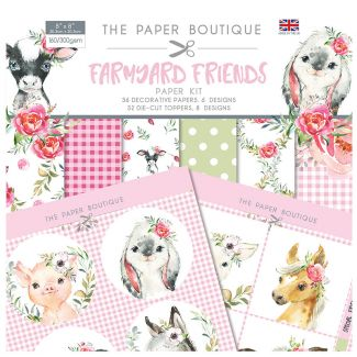 The Paper Boutique Farmyard Friends Paper Kit