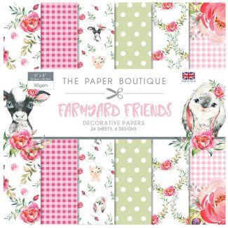 "The Paper Boutique Farmyard Friends 8"" x 8"" Paper Pad"