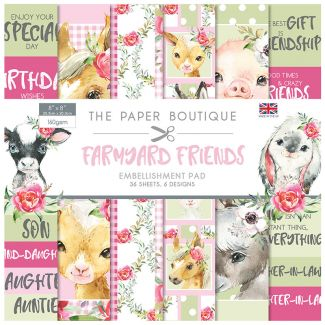 "The Paper Boutique Farmyard Friends 8"" x 8"" Embellishments Pad"