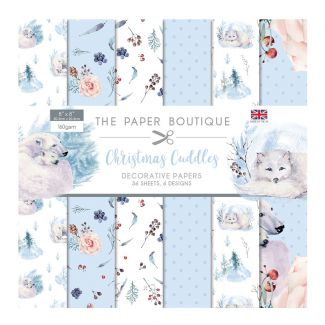 """The Paper Boutique Christmas Cuddles 8"""" x 8"""" Paper Pad (36 sheets, 6 designs)"""